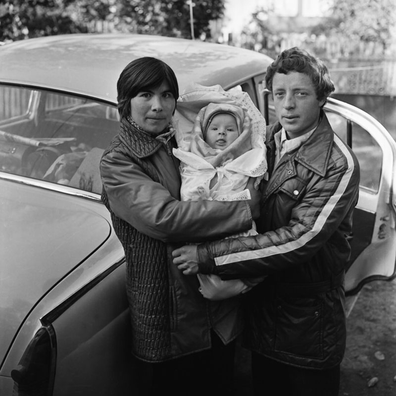 Young family (1979). Miska, Lida and Karina.